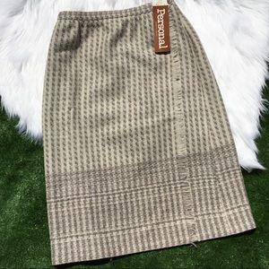 Vintage Leslie Fay Personal Women's Wool Skirt